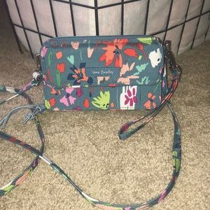 Vera Bradley small crossbody bag purse blue/multi